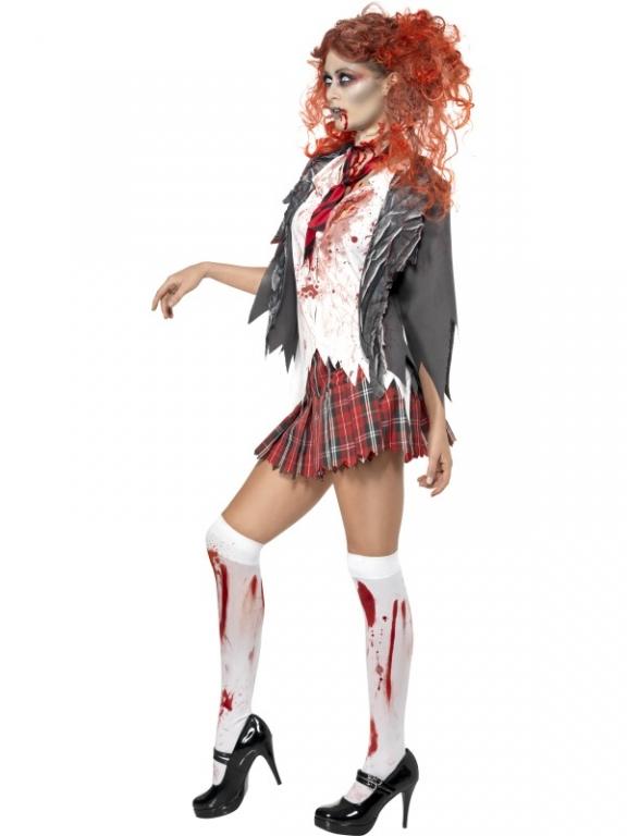 High School Horror School Girl Halloween Fancy Dress Costume - Horror Costumes